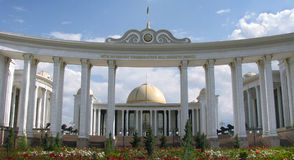 ashgabat pałac Turkmenistan biel zdjęcie royalty free