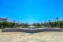 Ashgabat stjärnaspringbrunn royaltyfri foto