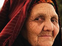 Ashgabat, Turkmenistan - April 02.  Portrait of old unidentified Royalty Free Stock Photography