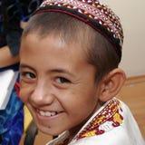 Ashgabat, Turkmenistan - August 4:  An unidentified Asian boy La Royalty Free Stock Photos