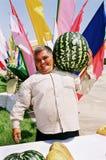 Ashgabat Turkmenistan - Augusti 26 Stående av oidentifierat L Royaltyfri Foto