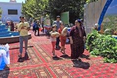 Ashgabat, Turkmenistan - Augustus, 17, 2017: Meloenfestival in Turkije Royalty-vrije Stock Foto