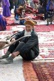Ashgabat, Turkmenistan - February 26. Portrait of Laughing Turk royalty free stock images