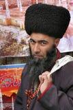 Ashgabat, Turkmenistan - February 26.  Portrait of Turkmen man i Royalty Free Stock Photos