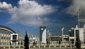 Ashgabat Turkmenistan, Kwiecień, - 6, 2017 Część sporta compl Fotografia Royalty Free