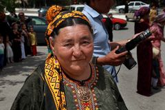 Ashgabat Turkmenistan, Luty, - 26, 2013 Portret stary uni Obrazy Stock
