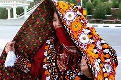 Ashgabat, Turkmenistan - Maart 10 Portret van jonge unidenti Stock Foto's