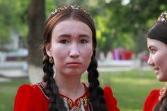 Ashgabat, Turkmenistan, Maj 25, 2017: Portret nieznane fem Obrazy Royalty Free