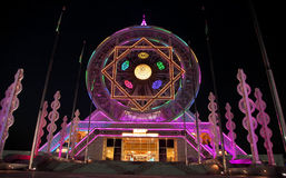 Ashgabat, Turkmenistan - October 14, 2015. Ferris wheel Royalty Free Stock Images
