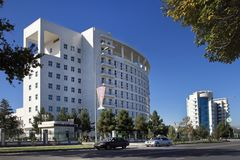 Ashgabat, Turkmenistan - October 23, 2014. International Centre Stock Photography
