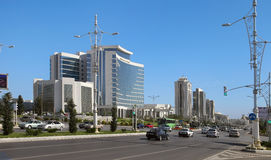 Ashgabat, Turkmenistan - October 15, 2014: Modern architecture o. F Ashgabat. Ashkhabad. Turkmenistan in October 15, 2014 Stock Photography