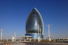 Ashgabat, Turkmenistan - October 15, 2014: Modern architecture o Royalty Free Stock Images
