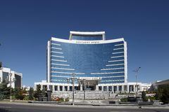 Ashgabat, Turkmenistan - October 15, 2014: Modern architecture o Royalty Free Stock Image