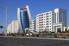 Ashgabat, Turkmenistan - October 15, 2014: Modern architecture o Stock Images