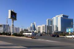 Ashgabat, Turkmenistan - October 15, 2014: Modern architecture o Royalty Free Stock Image