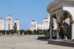Ashgabat, Turkmenistan - October, 15 2014: Monument historical f Stock Photography