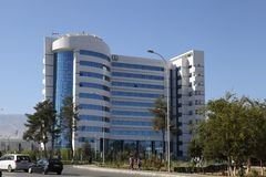 Ashgabat, Turkmenistan - October 23, 2014. The new medical cente Stock Image