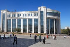 Ashgabat, Turkmenistan - October 15, 2014. Shopping center Royalty Free Stock Photo