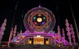 Ashgabat, Turkmenistan - Oktober 14, 2015 Ferris Wheel Royalty-vrije Stock Afbeeldingen