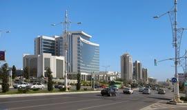 Ashgabat Turkmenistan, Październik, - 15, 2014: Nowożytna architektura o Fotografia Stock