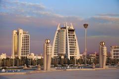 Ashgabat Turkmenistan - September 26, 2017: Modern arkitekt Royaltyfri Bild