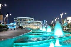 Ashgabat Turkmenistan - September 22, 2017: Nattsikt av Royaltyfri Foto