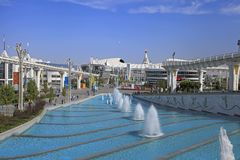 Ashgabat, Turkmenistan -  September 26.2017:  Part of the sport Royalty Free Stock Photography