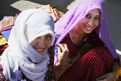 Ashgabat Turkmenistan, Sierpień, - 26 Portret dwa potomstw unid Obraz Stock