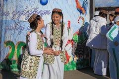 ASHGABAT TURKMENISTAN, Styczeń, -, 04, 2017: Nowego Roku drzewo w t Obrazy Stock