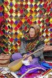 Ashgabat, Turquemenistão - 9 de março de 2013 Retrato do unidentifie Imagem de Stock Royalty Free