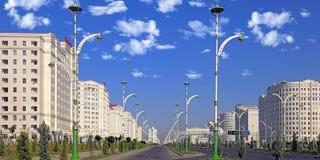 Ashgabat, Turquemenistão - 15 de outubro de 2014: Arquitetura moderna o fotografia de stock