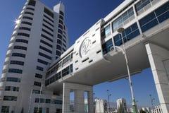 Ashgabat, Turquemenistão - 23 de outubro de 2014: Parte do complexo - fotos de stock royalty free