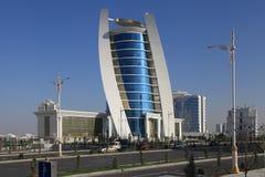 Ashgabat, Turquemenistão - 11 de outubro de 2014: Vista no buil novo Imagens de Stock
