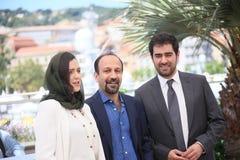 Ashgar Farhadi, Taraneh Alidoosti, Shahab Hosseini Stock Image