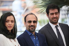 Ashgar Farhadi, Taraneh Alidoosti, Shahab Hosseini Stock Photos