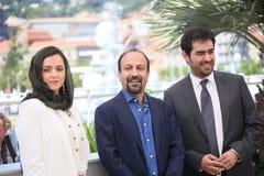 Ashgar Farhadi, Taraneh Alidoosti, Shahab Hosseini Royalty Free Stock Image
