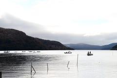 Ashi湖 库存照片