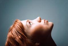 Ashion portrait of a red hair woman Royalty Free Stock Photos