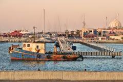 ashkelon Israel stary ośniedziały statek Zdjęcie Stock