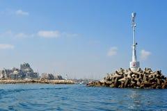 Ashkelon marina entrance Royalty Free Stock Photos
