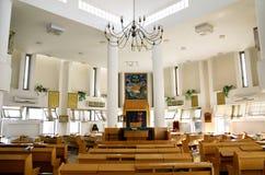 Ashkenazic犹太教堂的内部在Samaria 免版税图库摄影