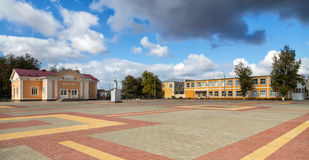 ashkhabad central fyrkant Panino Ryssland Royaltyfria Bilder