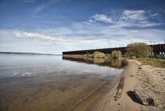 Ashland Wisconson Lake Front Stock Photo
