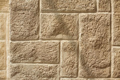 Ashlar wall with brickwork pattern Stock Photo