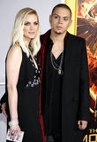 Ashlee Simpson and Evan Roos Stock Image