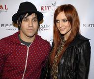 Ashlee Simpson-Wentz and Pete Wentz. Ashlee Simpson Wentz and Pete Wentz on the red carpet Stock Image