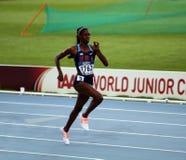 Ashley斯宾塞- 400米的金牌获得者 免版税库存照片