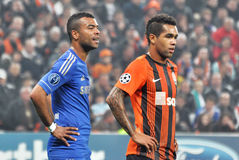 Ashley Cole and Alex Teixeira Stock Photo