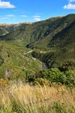 Ashley Gorge flowing through Lees Valley in New Zealand. Ashley Gorge flowing through Lees Valley in Canterbury, New Zealand royalty free stock photo