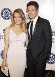 Ashley Hinshaw and Topher Grace Stock Image